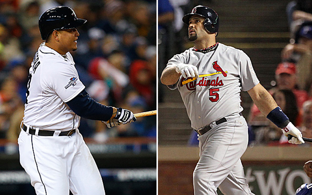 Miguel Cabrera is bridging the gap on Albert Pujols' career acccomplishments.