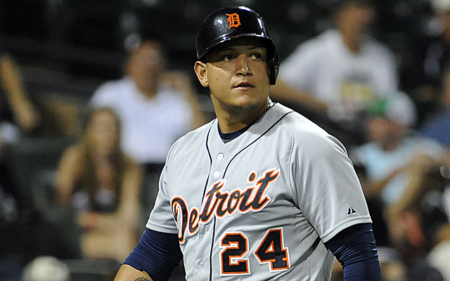 Miguel Cabrera's poor September makes things a bit closer, but he's still AL MVP right now.