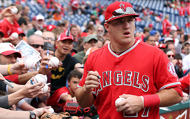 Mike Trout is the leading vote-getter in the AL right now.