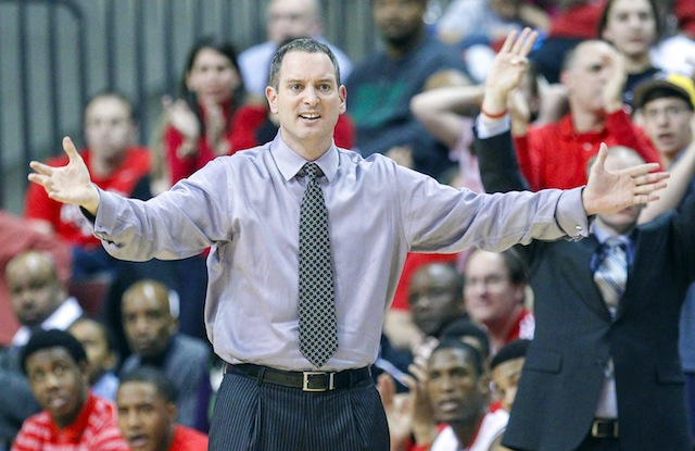 Despite a show of confidence from his AD, Rutgers' Mike Rice is on the hot seat. (USATSI)