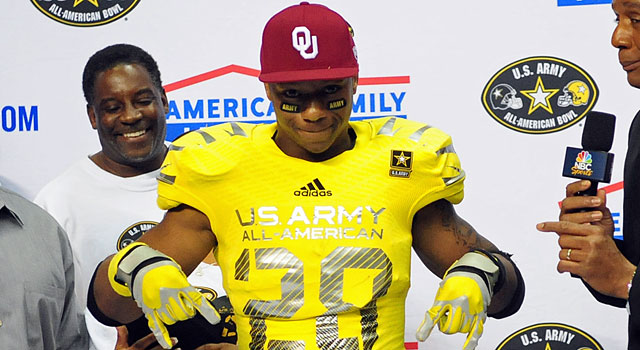 Joe Mixon, one of the top running backs in the nation, committed to Oklahoma. (USATSI)