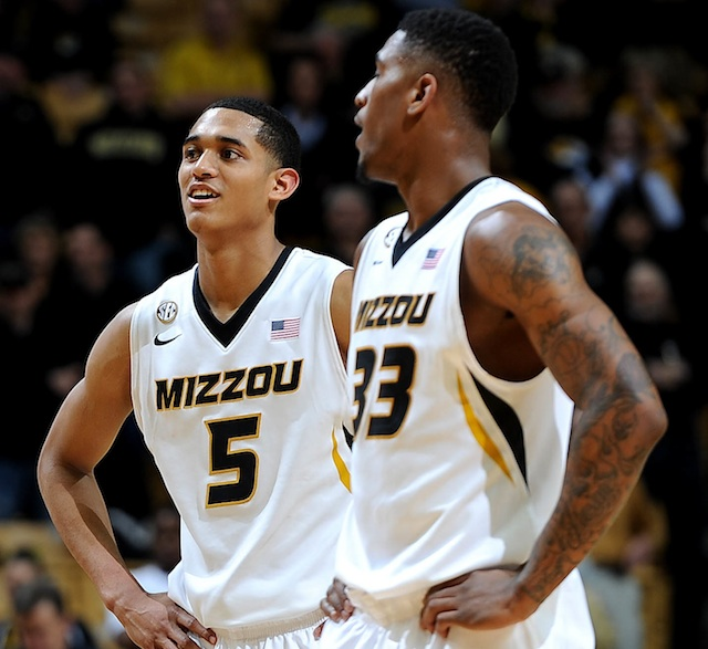 Jordan Clarkson (5) and Earnest Ross combined for 41 points in Saturday's win over UCLA. (USATSI)