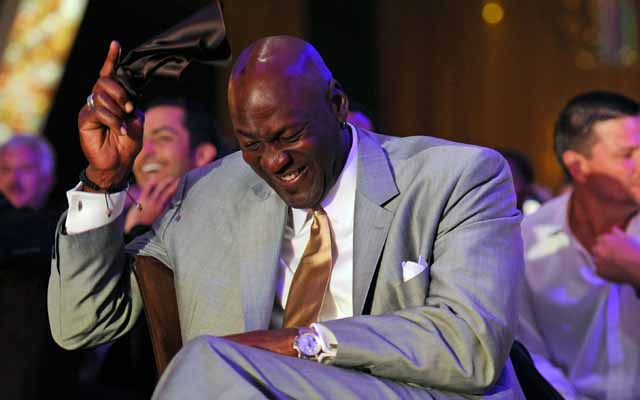 Michael Jordan is worth a billion... laughs that is. Also, dollars.   (USATSI)
