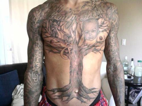 Monta Ellis Family Tree Tattoo