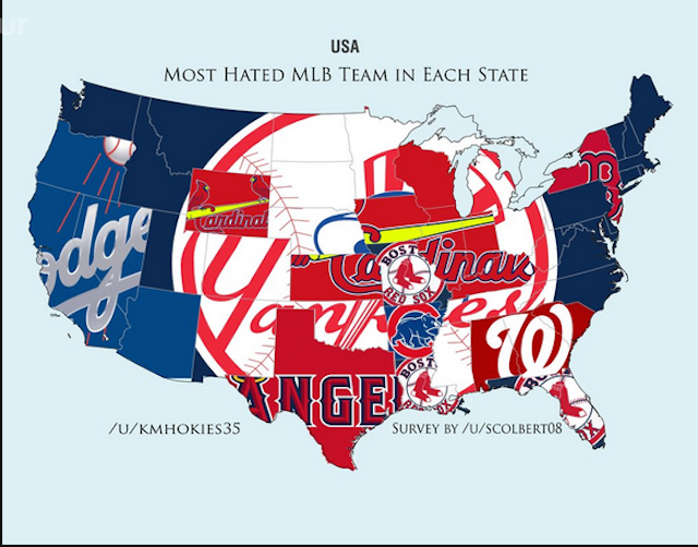 Reddit survey names each state's most hated MLB team ...