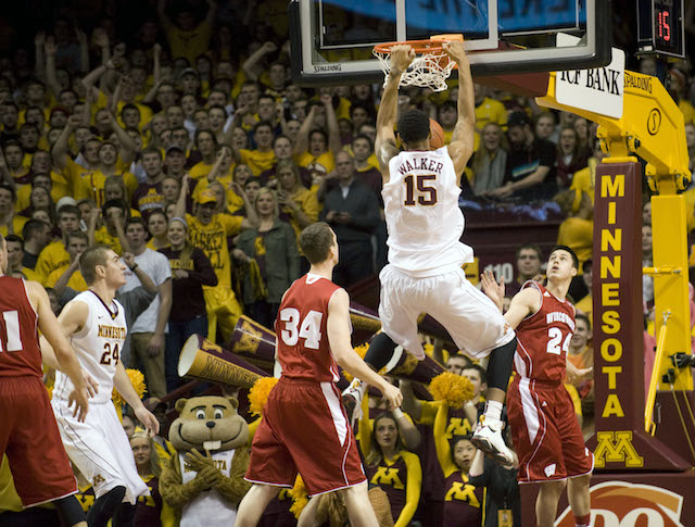 Maurice Walker's 18 points and nine rebounds helped Minnesota get a huge win over Wisconsin. (USATSI)