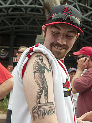 Stan Musial tattoo