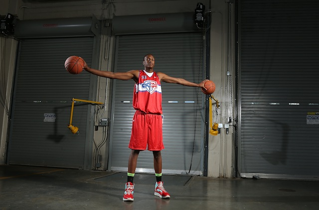 Myles Turner emerged out of nowhere to become one of the top players in the class of 2014. (Kelly Kline/Under Armour)
