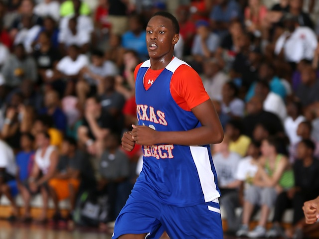 Myles Turner picked up more than 60 offers in the weeks following his breakout performance. (Under Armour/Kelly Kline)