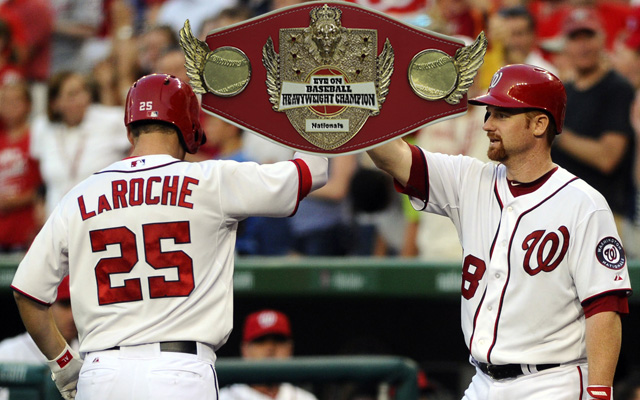 The Nationals are showing off their new championship belt.