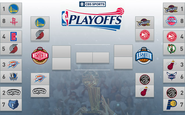 2016 NBA Playoffs: Series schedules, dates, times, TV info and bracket - CBSSports.com