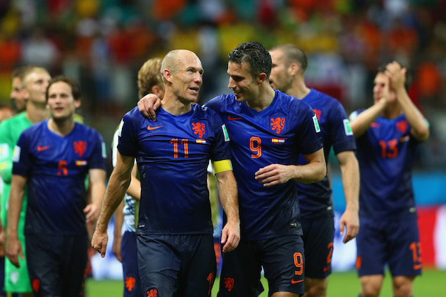 Arjen Robben and Robin van Persie combined for six goals in the group stage. (Getty Images)