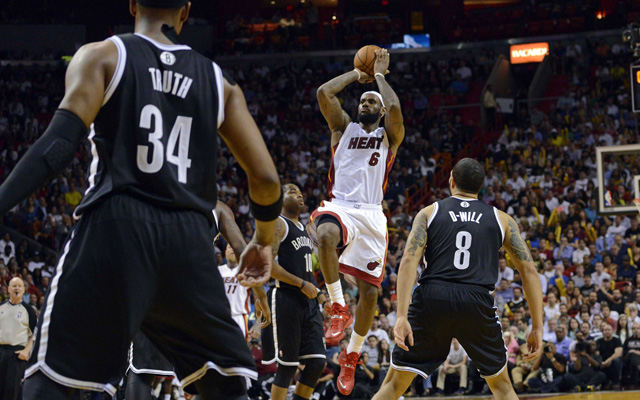 The Nets and Heat face off in the second round.  (USATSI)