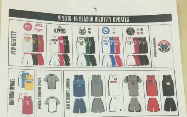 149a398bc LOOK  2015-16 NBA uniforms leaked on Reddit message board ...