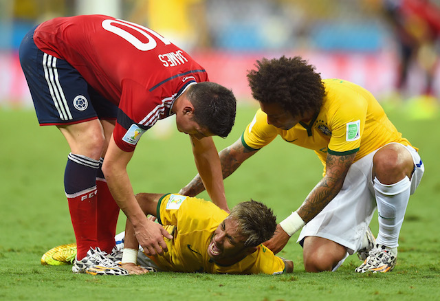 Neymar had scored four goals in five matches before getting injured against Colombia. (Getty Images)
