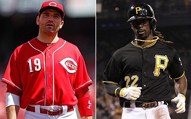 Joey Votto and Andrew McCutchen will lead their clubs into the wild-card game Tuesday.