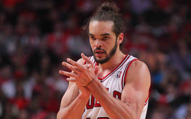 The Bulls defense surprisingly struggled with Noah on the floor in Game 1. (USATSI)