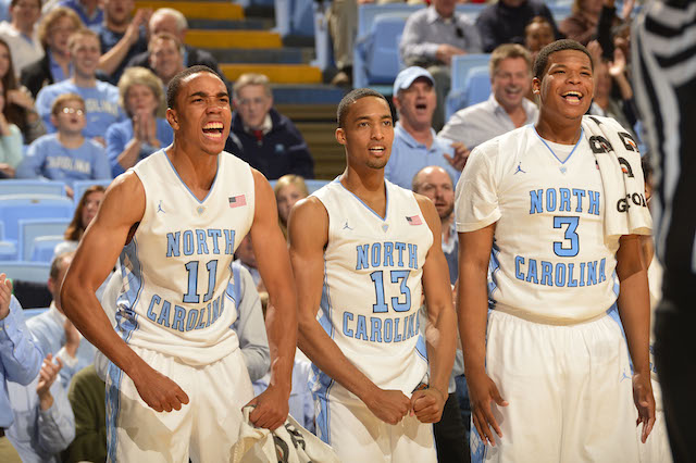 The emergence of Brice Johnson (left) and Kennedy Meeks (right) has been key for North Carolina. (USATSI)