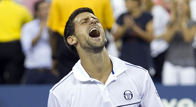 Novak Djokovic celebrates after winning the US Open in 2011. (USATSI)