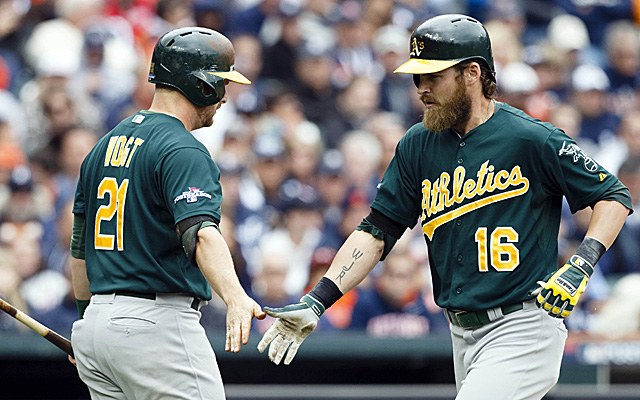 Josh Reddick, Stephen Vogt and company had some fun Monday in Detroit.