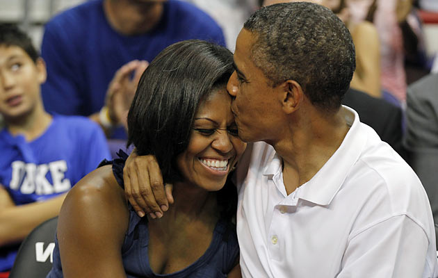 The Obamas have gone to many college hoops games over the past five years.(USATSI)