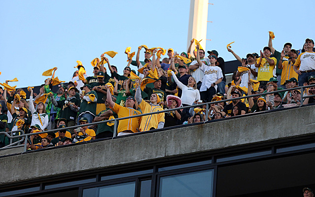 The A's will continue to play in front of fans at O.co Coliseum for the time being.