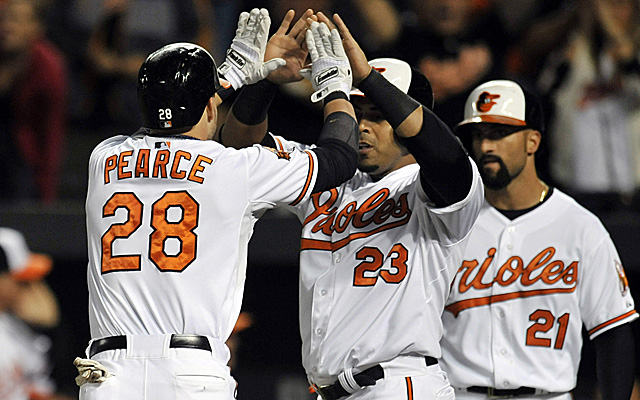 Steve Pearce's first-inning homer set the tone Tuesday.