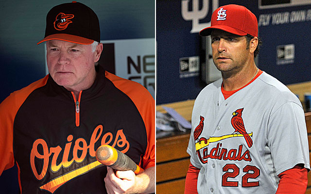 Buck Showalter and Mike Matheny are set to match wits this weekend.