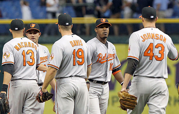 The O's, who racked up an impressive 93 wins last season, is back to their winning ways in 2013. (Getty Images)