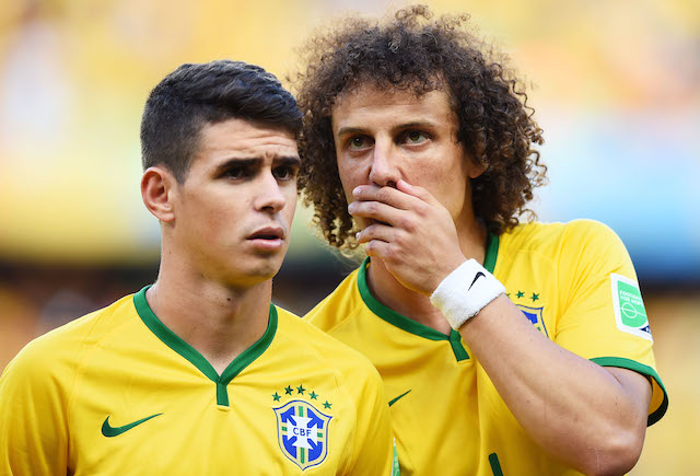 Oscar and David Luiz will need to step up without a pair of key teammates. (Getty Images)