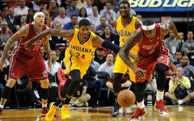 One more regular season battle Friday for the Heat and Pacers. (USATSI)