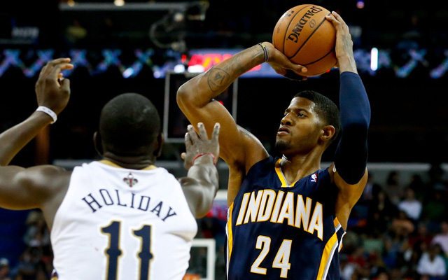 Paul George and the Pacers have jumped out to a 2-0 start.  (USATSI)