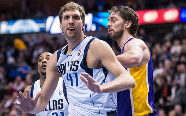 The Mavericks could look to combine Pau Gasol with Dirk Nowitzki.  (USATSI)