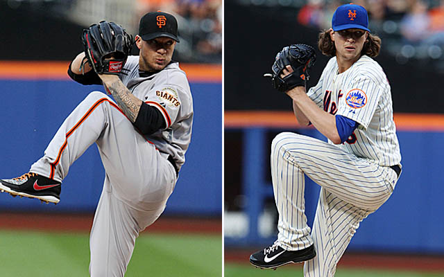 Through six innings, neither Jake Peavy nor Jacob deGrom had allowed a hit.