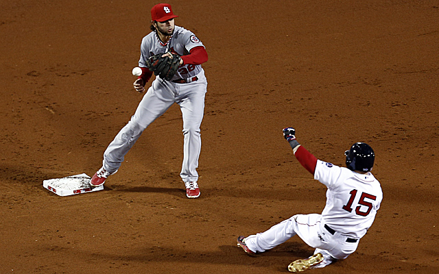 Pete Kozma's error in Game 1 was very costly.