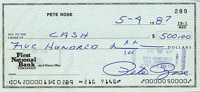 This is one of the four checks being auctioned off on goldinauctions.com.