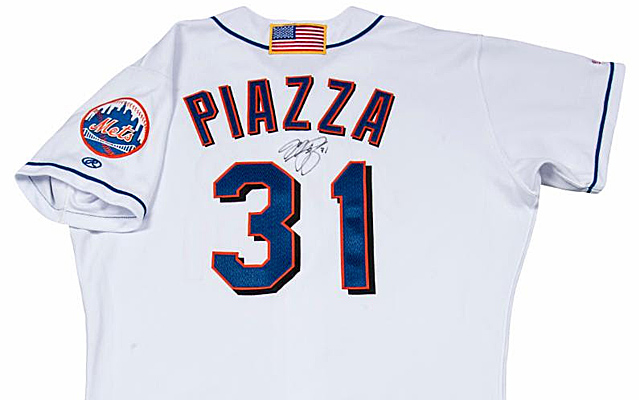 timeless design 03fce a5b6a Mike Piazza's 9/11 Mets jersey goes for $365K, will be ...
