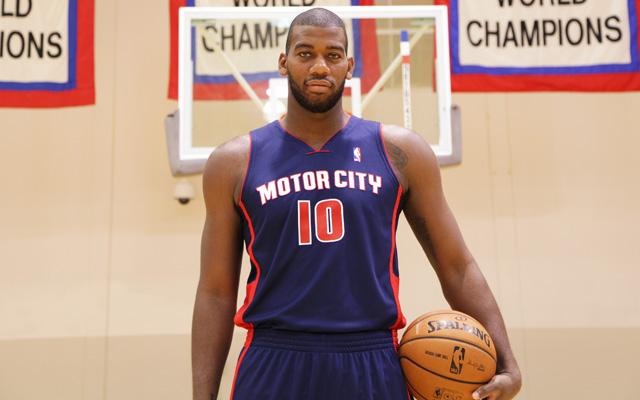The Pistons new uniforms are pretty rad. (USATSI)