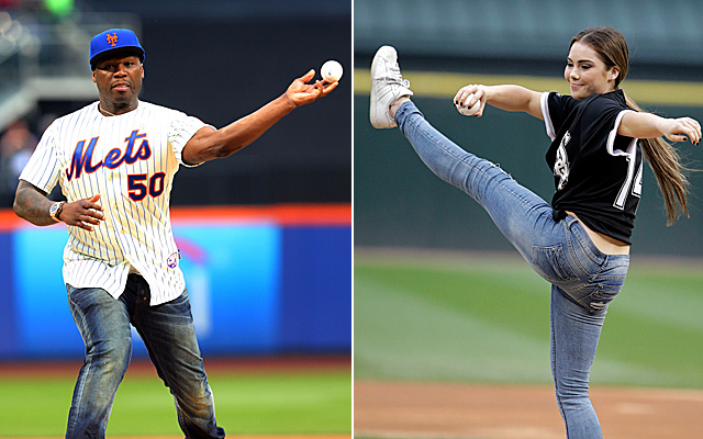 Celebrity First Pitches Included In Topps 2015 Baseball