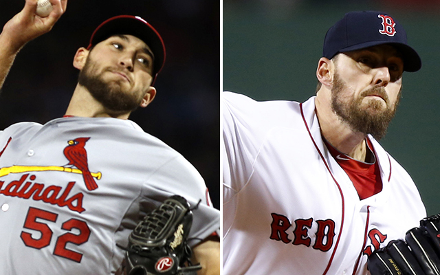 Michael Wacha (left) and John Lackey will square off again in Game 6. (USATSI)