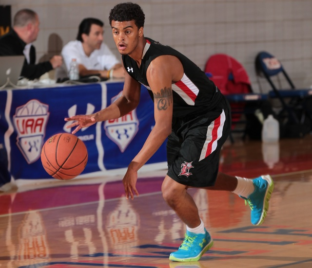 Quentin Snider has visited UCLA and Illinois the past two weekends. (Kelly Kline/Under Armour)