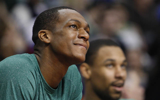 The Celtics don't seem eager to trade Rajon Rondo.    (USATSI)