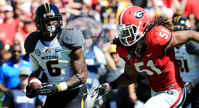 Ramik Wilson and Georgia play Marcus Murphy and Missouri on Oct. 11. (USATSI)