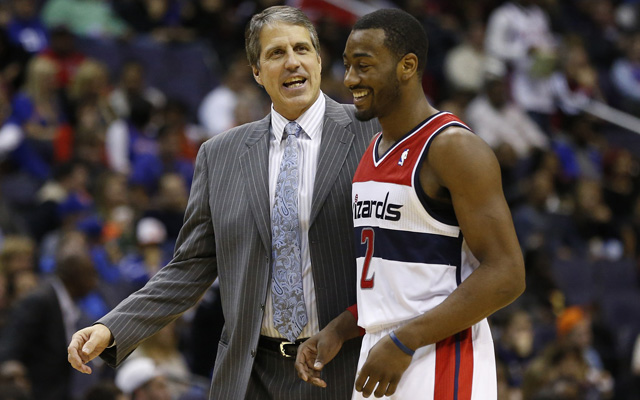 Randy Wittman and John Wall disagree over the Wizards' selfishness. (USATSI)
