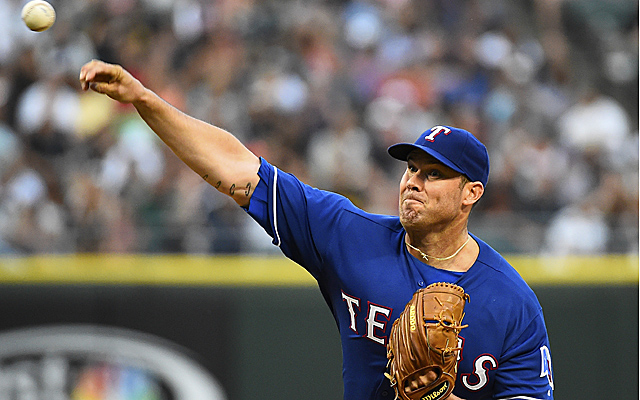 Colby Lewis had a nice outing Tuesday evening.