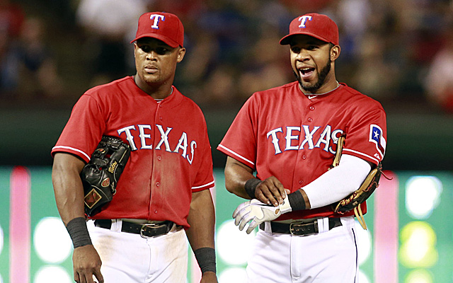 Adrian Beltre and Elvis Andrus form a stellar left-side of the infield.
