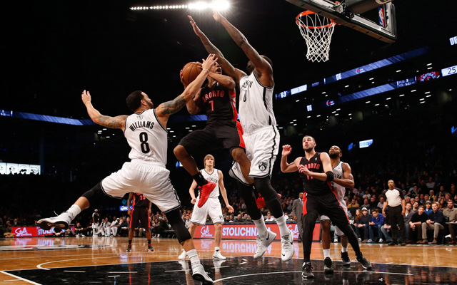 The Raptors and Nets will battle in a 3-6 matchup.  (USATSI)