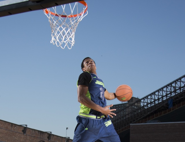 Rashad Vaughn is the best uncommitted guard remaining in the class of 2014. (Kelly Kline/Under Armour)