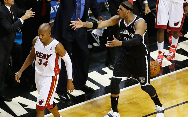 Ray Allen buried Pierc and Garnett Wednesday, then walked away.. (USATSI)