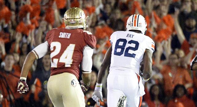 Auburn's Melvin Ray runs for a touchdown against Florida State's Terrance Smith. (USATSI)